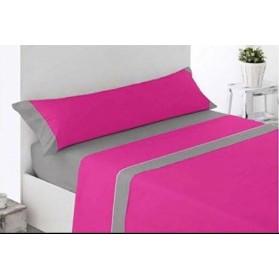 Juego Sábanas LISAS Microfibra rosa